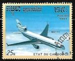 Sellos de Asia - Camboya -  Aviones - McDonnell Douglas MD-11