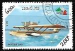 Sellos de Asia - Laos -  Aviones - Mf-5