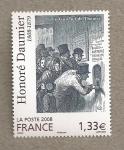 Sellos de Europa - Francia -  Honoré Daumier, Dibujante