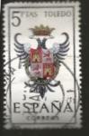 Stamps : Europe : Spain :  Edifil ES 1696 Escudos Provinciales TOLEDO