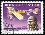 Sellos de Europa - Hungría -  Aviones - Louis Bleriot and La Manche