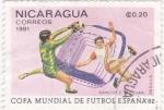 Stamps Nicaragua -  COPA MUNDIAL FUTBOL ESPAÑA'82