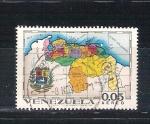 Sellos del Mundo : America : Venezuela :  mapa territorios