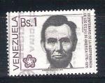 Sellos de America - Venezuela -  RESERVADO Lincoln