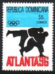 Sellos de America - Rep Dominicana -  JUEGOS  OLÍMPICOS  DE  VERANO  ATLANTA  1996.  JUDO.