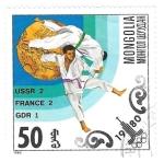 Sellos de Asia - Mongolia -  judo