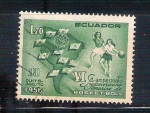 Sellos del Mundo : America : Ecuador :  IV campeonato de baloncesto