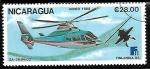Sellos del Mundo : America : Nicaragua : Aviones - SA-365 N Dauphin 2