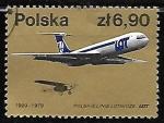 Sellos de Europa - Polonia -  Aviones - LOT Planes, 1929 and 1979