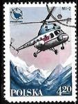 Sellos de Europa - Polonia -  Aviones - MI-2 helicopter