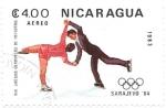 Sellos de America - Nicaragua -  patinaje