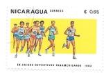 Sellos de America - Nicaragua -  atletismo