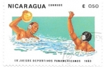 Stamps : America : Nicaragua :  waterpolo