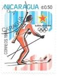 Stamps : America : Nicaragua :  biathlón