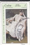Stamps Cuba -  PINTURA- MUJER SENTADA