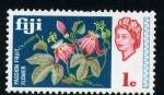 Stamps Oceania - Fiji -  flores de la fruta de la pasion