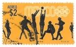 Sellos de America - México -  juegos olímpicos