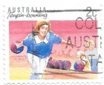 Stamps Australia -  deporte en familia, bolos