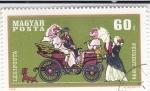 Stamps Hungary -  COCHES DE EPOCA- PEUGEOT