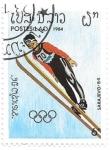 Sellos de Asia - Laos -  salto de esquí
