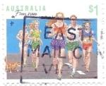 Sellos de Oceania - Australia -  deporte en familia, correr