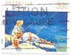 Sellos de Oceania - Australia -  deporte en familia, pesca