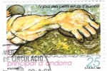 Stamps Andorra -  lanzamiento de disco