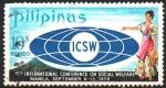 Sellos del Mundo : Asia : Filipinas : EMBLEMA, VOLCÁN  MAYON  Y  MUJER  FILIPINA