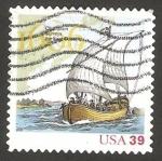 Stamps United States -  3827 - 400 Anivº de la expedición marítima de Samuel de Champlain, explorador francés