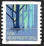 Stamps : America : United_States :  48 - Siluetas de árboles
