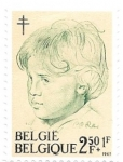 Sellos del Mundo : Europa : Bélgica : grabado