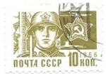 Sellos del Mundo : Europa : Rusia : ejercito soviético