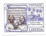 Stamps : Africa : Liberia :  himno