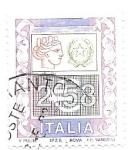 sello : Europa : Italia : alegoría