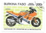 sello : Africa : Burkina_Faso : Honda