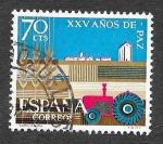 Sellos de Europa - España -  Edf 1580 - XXV Años de Paz Española