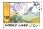 Sellos de Asia - Mongolia -  telecomunicaciones
