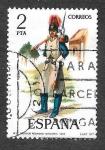 Sellos de Europa - España -  Edf 2382 - Uniformes Militares