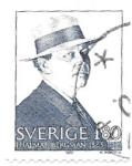 Sellos del Mundo : Europa : Suecia : aniversario Hjalmar Bergman
