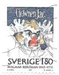 Stamps : Europe : Sweden :  aniversario Hjalmar Bergman