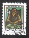 Sellos de Europa - Hungría -  Pinturas, Mujer sentada, 1918, de Béla Ulitz.