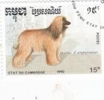 Stamps : Asia : Cambodia :  Perros de raza- lebrel afgano