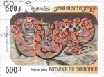 Sellos del Mundo : Asia : Camboya :  Serpiente