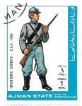 Stamps United Arab Emirates -  soldado confederado