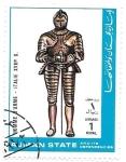 Stamps : Asia : United_Arab_Emirates :  caballero medieval