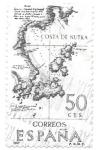 Stamps : Europe : Spain :  Mapas:costa de Nutka