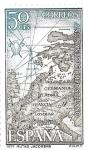 Sellos de Europa - España -  Mapas:rutas jacobeas
