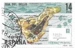 Sellos del Mundo : Europa : España : Mapas:Tenerife,día de sello