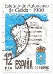 Sellos del Mundo : Europa : España : Mapas:estatuto de autonomía de Galicia