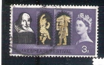 Stamps United Kingdom -  RESERVADO shakespeare